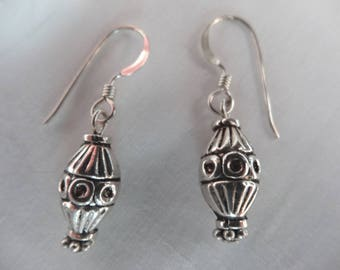 Sterling Silver Hand Crafted Earrings French Ear Wires Sterling Silver Beads E41
