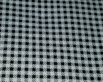 New fabric, quilt, quilting, sewing, black and white, tiny houndstooth