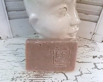 Homemade Large 5-6oz Bar of Natural Handmade Soap in TEA TREE & MINT