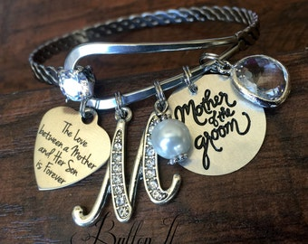 Mother of the GROOM gift, Mother of the BRIDE gift, Mom gift from groom, love between a mother and her son is forever, wedding keepsake
