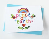 Peace on Earth Collage Reproduction Cards