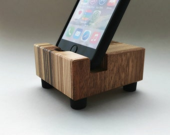 iPhone Stand, Modern, Recycled Wood, iPhone Charging Stand