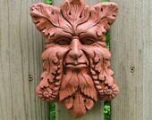 Concrete Greenman Plaque  (Terracotta) Garden Sculpture