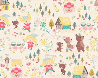 ON SALE Riley Blake Designs Goldilocks By Jill Howarth Cream Main