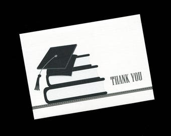 Graduation Thank You Cards - Note Cards - Blank - Books