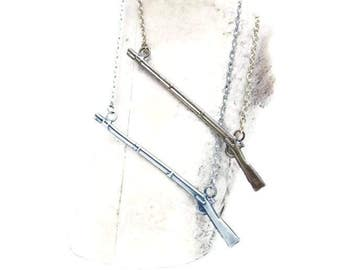 1795 Musket Necklace, Brass or Silver