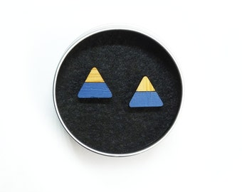 Mountain Earrings, Mountain Jewellery, Triangle Earrings, Mountain Studs, Blue Mountains
