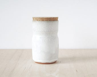 bud vase/cork jar.
