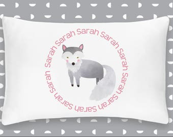 Personalized Wolf Pillowcase Home Decor Bedding Bed Woodland Nursery