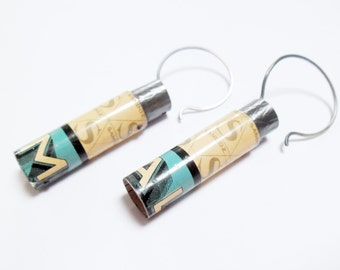 Tube Drop Dangle Hoop Earrings
