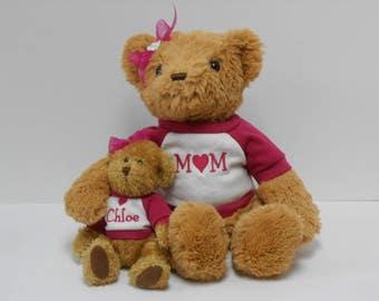 Personalized Keepsake Family bear set.
