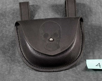 Formed Leather Pouch for Plague Doctor Costume #4