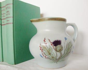 vintage buchan thistle pitcher scotland heather bluebell flowers