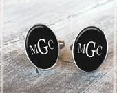 Monogram Cufflinks, Personalized Cufflinks, Initial Letter Cufflinks, Wedding Cufflinks, Groom Cufflinks, Cool Groomsmen Gift, Unique Gift