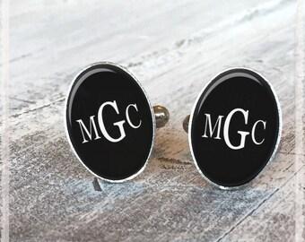 Personalized Cufflinks, Monogram Cuff Links, Initial Letter Cufflinks, Wedding Cufflinks, Groom Cufflinks, Groomsmen Cufflinks, Gift for Him