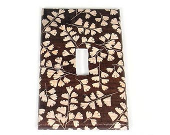 Switch Plate Light Switch Cover Wall Decor Light Switchplate  in Brown Leaves  (267S)