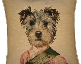 Thierry Poncelet Yorkshire Terrier Yorkie Tapestry Cushion Cover Sham