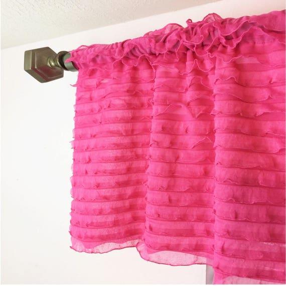 Hot Pink Valance Fuschia Curtain Hot Pink Curtains Pink
