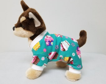 Dog Clothes Cupcake Pajamas, Chihuahua, Yorkie
