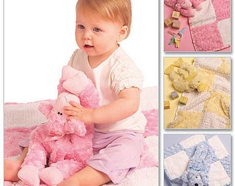 Baby Gifts Blanket Duck Puppy and Lamb Toys Sewing Pattern