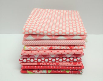 Handmade and Basics by Bonnie & Camille FQ bundle in Reds and Pinks - 10 Fat Quarters