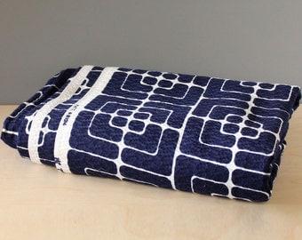 Mod blue fabric. Vintage 1960s Couleur International yardage.