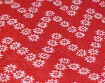 Floral Chevron - Vintage Fabric - J Manes Co - JC Penney - Cotton
