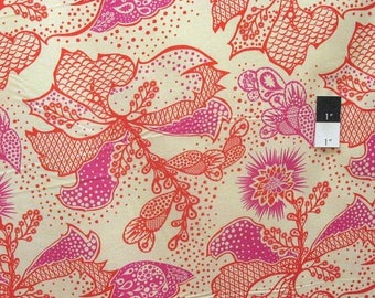 20% OFF SALE Anna Maria Horner True Colors PWTC031 Filigree Coral Cotton Fabric By Yd