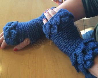 Dragon Scale Gloves Fingerless Gloves Ready to Ship Crocodile Wrist Warmers Gifts for Her Ladies Accessories