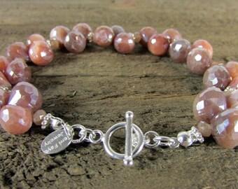 Silverite Gemstone Bracelet, Elegant Jewelry, One-of-a-Kind, Gemstone Jewelry