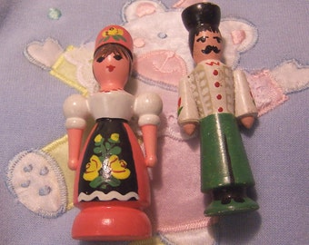 adorable hand painted wooden figurines