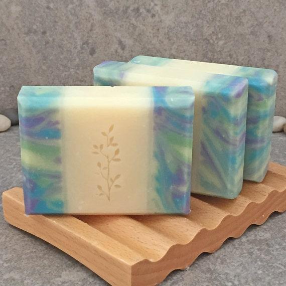 Lemongrass Sage Scented Decorative Handcrafted Coconut Milk Bar Soap