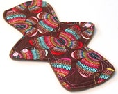 "11"" LIGHT flow - Reusable Cloth Menstrual pad -bamboo core - Windpro - quilter's cotton top in ""Rainbow Butterfly"""