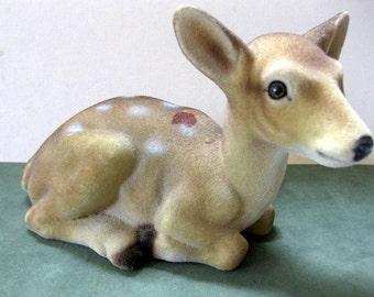 HOLIDAY SALE - Vintage Japan Large Flocked Deer