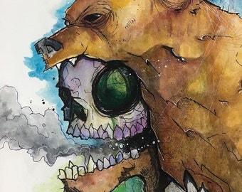 I will Bear all Original Watercolor drawing