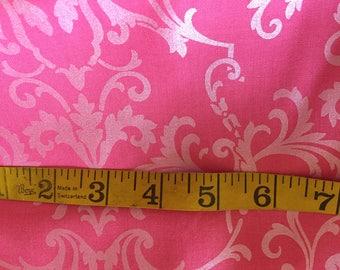 One Yard of Pink Pearl DamaskFabric