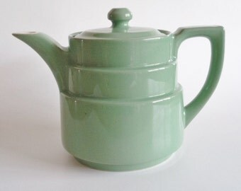 Vintage Genuine Coorsite 493 Green Teapot