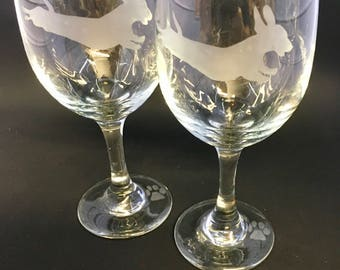 Flying Weenie wine glasses (set of 2)