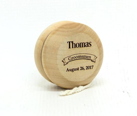 Groomsmen Gift,Ring Bear YoYo,Personalized YoYo,Wooden Yoyo,Engraved Yoyo,Ring Bearer Gift,Usher Gift,Stocking Stuffer