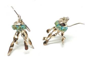 Beach Wedding Jewelry for Bridesmaids, Jellyfish jewelry, Jellyfish, Jellyfish earrings, Sterling Silver, Tentacles, Earrings, Boho Jewelry