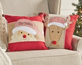Monogrammed Christmas Pillow Wrap