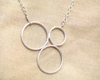 Circle Pendant - multi circle pendant - minimalist pendant - minimalist necklace - geometric pendant - circle pendant - modern circle