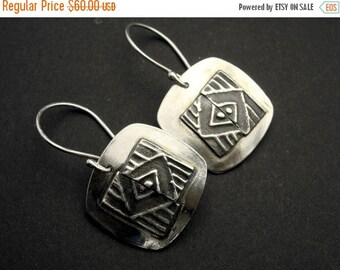 ON SALE Trifecta - Mirror Finish Sterling Silver Earrings