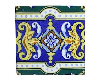 Handmade Tile | Vintage Home Decor | Bohemian Style | Ceramic Trivet