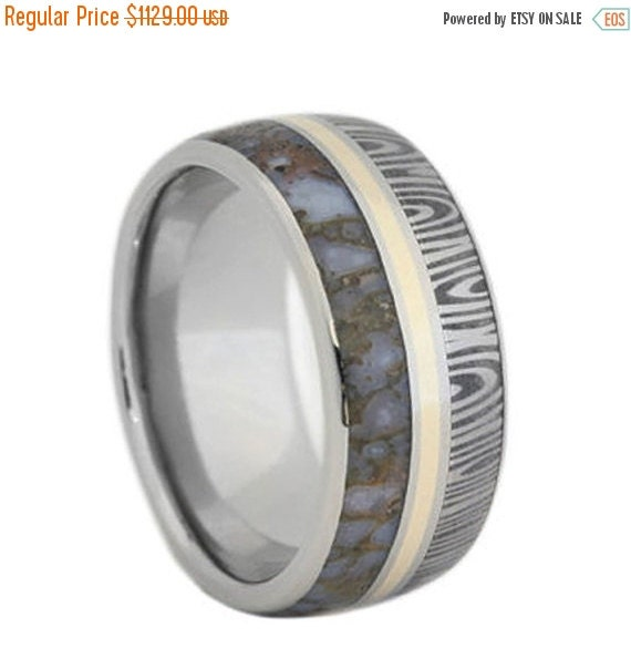 dinosaur bone wedding ring on damascus and dinosaur bone ring with a by 3550