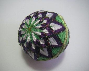 Mini hand made Temari(purple)
