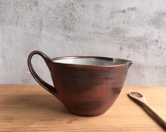 Handmade, wood fired batter bowl, by Julie Crosby