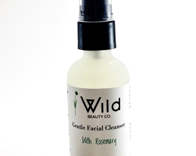 Gentle Facial Cleanser with Rosemary-Organic Ingredients-Natural Skincare-Vitamin C