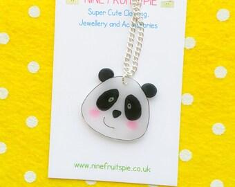 Kawaii panda necklace - medium size