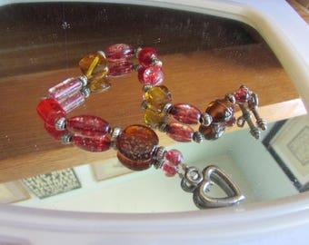 fall reads glass bracelet